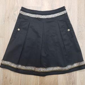 BCBGMAXAZRIA Black A-line Mini Skirt Size 2